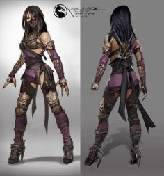 View an image titled 'Mileena Concept Art' in our Mortal Kombat X art gallery featuring official character designs, concept art, and promo pictures. Mortal Kombat X, Character Concept, Character Art, Character Design, Character Inspiration, Game Concept, Character Ideas, Video Game Characters, Female Characters