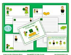 St. Patrick's Day Creative Writing Paper freebie