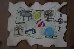 DIY Pirate Map and Treasure Hunt Games! - The Imagination Tree Not for the pirate party, but for summer maybe. Love the idea of a picknick lunch for treasure. Treasure Hunt Map, Treasure Maps For Kids, Pirate Treasure Maps, Pirate Maps, Treasure Chest, Pirate Birthday, Birthday Party Games, Mermaid Birthday, Pirate Party