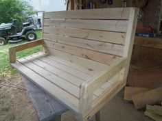 Free plans! 2x4 porch swing