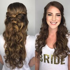 "42 Likes, 1 Comments - Dana Raia | Hair + Makeup (@danaraiabridal) on Instagram: ""What gorgeous hair😍😍 #bride #bridetobe #engaged #longhairdontcare #hairgoals #weddinghair #hairporn…"""