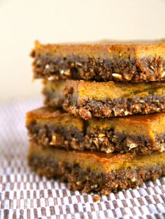 Gingerbread Pumpkin Bars -- a gluten-free snack bar that combines the spiciness of gingerbread with the classic taste of pumpkin pie    runningwithspoons.com #pumpkin #fall #glutenfree
