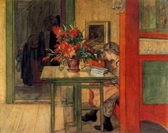Carl Larsson - Lisbeth Reading by a Cactus