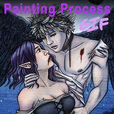 Wath x Dezra Painting Process GIF by Valaquia.deviantart.com on @DeviantArt