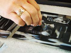 Création d'un verre fusionné #forge #design #wood #bois #acier #steel #atelier #workshop #hand #made  #glass #verre
