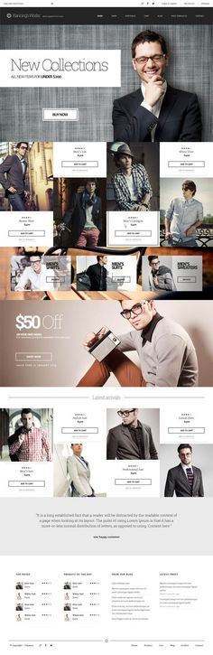 Modern Responsive WordPress Themes with Unlimited Features - Wordpress Portfolio Theme - Ideas of Wordpress Portfolio Theme - Kancing : Fashion WooCommerce WordPress Theme Packaging Inspiration, Webdesign Inspiration, Website Design Inspiration, Ecommerce Webdesign, Mise En Page Web, Gui Interface, Interface Design, Pag Web, Web Mobile