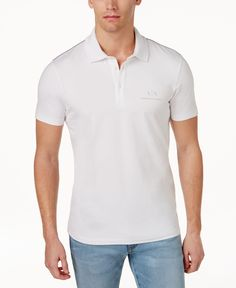 Armani Exchange Men's Signature Ax Logo Polo Stylish Mens Outfits, Camisa Polo, Dress Outfits, Polo Ralph Lauren, Mens Fashion, Casual, Mens Tops, Clothes, Shopping