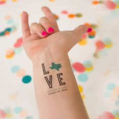 Custom Love Temporary Tattoo Customized with by KristenMcGillivray