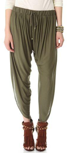 48b440fbfaa Draped Jersey Harem Pants - Lyst Comfy Pants