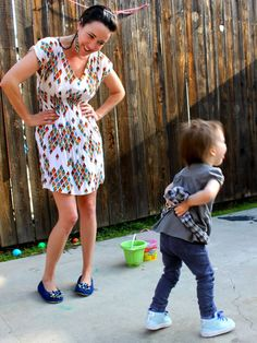 The Most Flattering Shirt Dress DIY | Prudent Baby