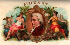 vintage victorian cigar box label mozart .