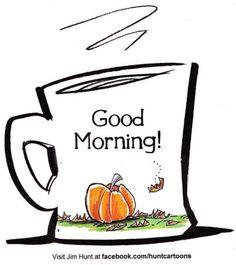 Good morning coffee pumpkin