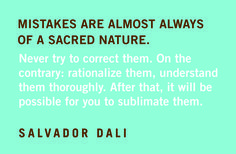 Quotables: Salvador Dali on Mistakes
