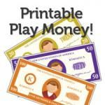 """More Printable Play Money-cute for the littles going to the """"grocery store"""" or to start teaching the older kids how to handle cash/checks"""