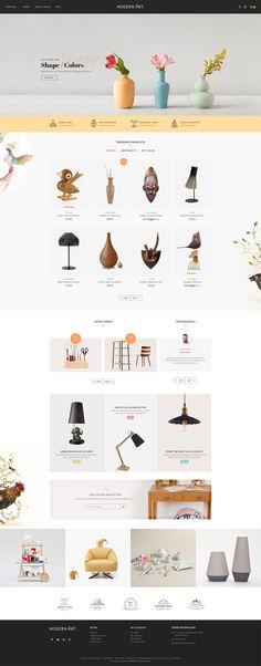 eCommerce - Modern Art - Home Decor - Crafts - Hand made - Furniture - Fancy - Wish - Responsive Web Design - http://goo.gl/XFYfNo