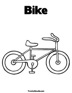 bicycle template for kids - Google Search
