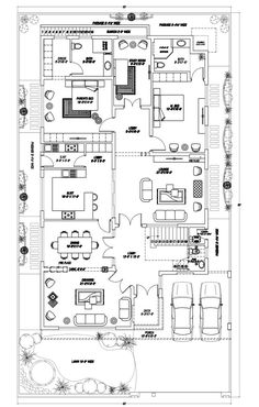 1 Kanal Ground Floor Plan 450 Sqm House Core Consultant