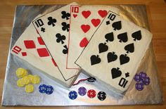 Poker Cake!   I'd love to try this for my dad!