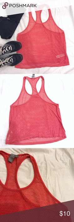 🆑$5‼️ F21  F I S H N E T  G Y M  Tank Top Forever 21 • Fishnet • Gym / Active / Sport • Racer Back • Tank / Vest Top / Muscle Tee • Excellent condition • size S • color is light red (like in the first 2 pics • bundle and save Forever 21 Tops Tank Tops