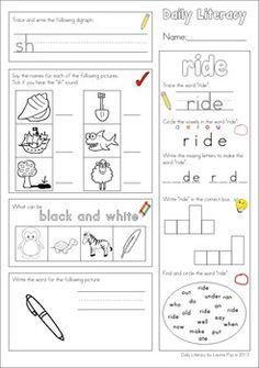 Daily Literacy Morning Work - Set 3 (Sight Words / Beginning Blends / Writing)