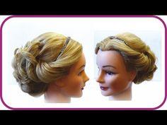 Свадебная прическа. Прическа на праздник. Прическа на длинные волосы. Wedding hairstyle - YouTube