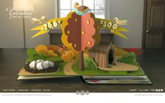 This promotional video, created by B&C, is for the talented illustrator Benjamin Lacombe in his forthcoming pop-up book entitled 'Il etait une fois', which directly translates to 'Once Upon a Time'. Diy Paper, Paper Art, Paper Crafts, Paper Games, Paper Toys, Web Design, Site Design, Kirigami, Cuento Pop Up
