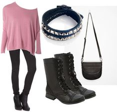 Love the combat boots.