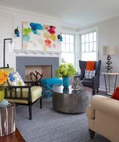 Rhode Island Beach House - eclectic - family room - boston - Rachel Reider Interiors