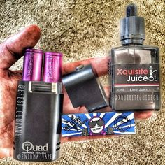 A quick #handcheck reveals my quad mod powered by my new @efest_company batteries and I've been getting through this juice from @xquisitejuice lately!  To a degree batteries are batteries but these look good and perform amazingly in my mec mod and the fact they come with an authenticity code is reassuring I'm a happy vaper!  As for the juice I really do rate @xquisitejuice lime and melon flavours they are tasty without being overpowering and I thought they were quite refreshing. Give them a…