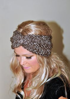 Turban Headband Crochet Head wrap Knit ear warmer by lucymir, $23.99