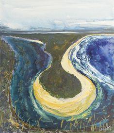 """Creek and Beach, Crescent Head"" by scott jackson. Paintings for Sale. Scott Jackson, Australian Painting, Buy Art Online, Paintings For Sale, Online Art Gallery, Landscape Paintings, Artworks, Shots, Ink"