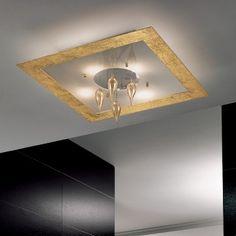Found it at Wayfair - Klok 4 Light Flush Mount Italian Lighting, Modern Lighting, Outdoor Lighting, Ceiling Lighting, Modern Light Fixtures, Home Decor Styles, Household Items, Modern Ceiling, Lights