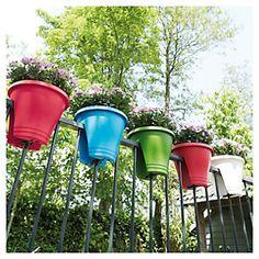 Macetero para balcón Corsica Verde limón 30 cm - Sodimac.com