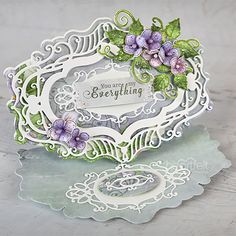 Stylish and versatile, the Majestic Frames Dies are magnificent for creating those one of a kind, jaw dropping shaped cards, decorative accent pieces or embellishments on your favorite paper crafting projects! Add a unique flair to your cards or add Heartfelt Creations Cards, Craft Supplies Online, Shaped Cards, Easel Cards, Oval Frame, Large Flowers, Calla Lily, Greeting Cards Handmade, Pattern Paper