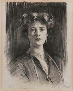 John Singer Sargent, Portrait of a Lady, 1913, Portrait of a Lady. | Lot 373 | Auction 2977B | Estimate: $50,000-70,000