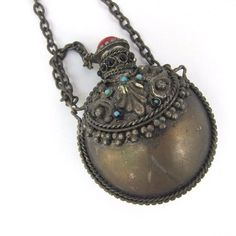 #Snuff #Bottle #Necklace Vintage or Antique Fragrance Necklace on Chain