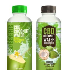 Freelance Coconut Water Label for Cannabis Company by vectorsoup