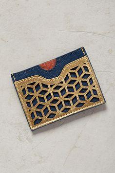 Lasercut Leather Card Holder