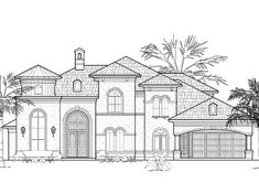 Eplans Italianate House Plan - Four Bedroom Italianate - 4519 Square Feet and 4 Bedrooms from Eplans - House Plan Code HWEPL60769