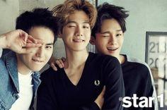 Suho, Baekhyun, Chen - Star1 magazine