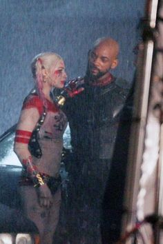 Margot Robbie & Will Smith as Harley Quinn & Deadshot | Suicide Squad 2016
