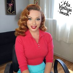 Pinup Palmer's hair by His Vintage Touch