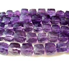 Amethyst  9mm To 5mm Faceted Box Beads Half by gemsforjewels, $28.10