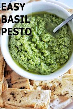 Simple basil pesto that can be stirred through pasta, served with fish, chicken and meats, as a dip, sauce or spread. This quick and easy recipe is super simple and delicious. #basilpesto #pesto @sweetcaramelsunday