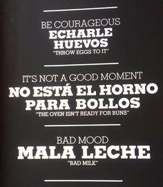 Cartel en el bar Estado Puro de Madrid.