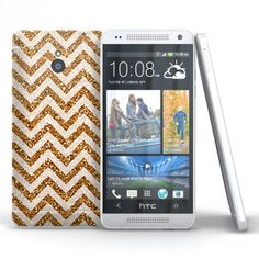 Coque HTC One Mini Zig Zag Gold ( M4 ). #ZigZag #Gold #HTC #OneMini #Case #Cover #Chevrons