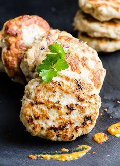 Chicken Burger Recipe with juicy chicken patties like my Ukrainian grandma used to make. Grill into a burger or pan fry as small patties and serve naked with quinoa and salad. No matter what you do, it's THE BEST chicken burgers.