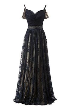 MerryJuly Womens Tulle Off the Shoulder Prom Dresses 2017 Long Evening Gowns Navy Blue Size 4 -- Click for Special Deals #HomecomingDresses2017