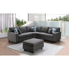 Modular Sectional Sofa, Grey Sectional, Living Room Sectional, Corner Sectional, Grey House Furniture, Home Furniture, Chaise Sofa, Armless Chair, Modular Design