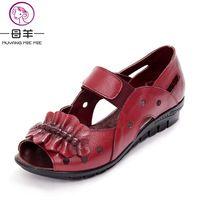52358096 China super stores - Small Orders Online Store, Hot Selling and more on  Aliexpress.com. Muyang mie mie prawdziwa skóra płaskie sandały letnie  kobiety buty ...